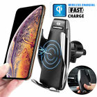 Automatic Clamping Wireless Car Charger Mount For iPhone Samsung Type-C Phones M