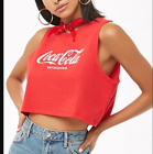 COCA-COLA GRAPHIC CROPPED TANK TOP RED/WHITE-BNWT £14.99  on eBay
