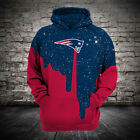 NFL Football Hoodie Hooded New England Patriots Sweatshirt Jacket gift for fan on eBay