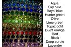 Rhinestone Row Bracelet Crystal All Colors Silver Stretch Elastic Stackable