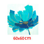 *Blue Flower* Hand Painted Canvas Oil Painting Abstract Home Decor Art Framed