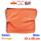 10x 35x50cm ORANGE NET SACK BAGS MESH FRUITS VEGETABLES WOOD CARROT ONION POTATO
