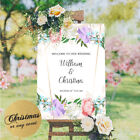 Personalised Welcome To Our Wedding Sign Poster Flower Engagement Mehndi Birth