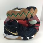Nike Kyrie 4 Pitch Blue Metallic Gold White 943806-403 Men's Sz 10-11
