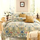 Pylle Hill Floral Reversible 100%Cotton 3-Piece Quilt Set, Bedspread, Coverlet image