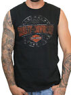 Harley-Davidson Mens Plate Round B&S Black Sleeveless Muscle Shirt $14.99 USD on eBay