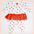 Valentine's Heart Bodysuit for Baby Girls - Different Sizes