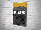 Hollywood Success Hustle Motivation Gallery Canvas Artwork Ready To Hang Stretch