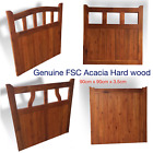 New Acacia Hard Wood Garden Wooden Gate 90cm X 90cm Very High Quality 4 Designs