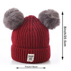 Newborn Baby Kid Boy Girls Winter Warm Infant Fur Pom Bobble Knit Beanie Hat Cap