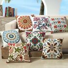 3D Embroidered Cotton Cushion Cover Throw Pillow Case Sofa Decor 18""