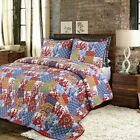 Antique 100%Cotton 3-Piece Quilt Set, Bedspread, Coverlet image