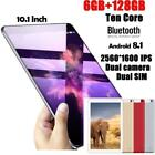 10.1'' 6GB 128GB Tablet PC Android8.1 Bluetooth HD WIFI Dual Sim 2G/3G Phablet