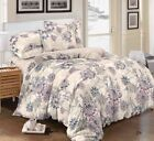 4Pcs 3D Design Bedding Cover Set Bed Throw Comforter Fitted Sheet Pillow cases