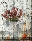 Farmhouse Wall Art, Coral Country Kitchen Home Decor Wall Art Matted Picture