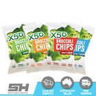 X50 Broccoli Chips Vegan Snacks Gluten Free 60g Vacuum Fried Tribeca Health Broc