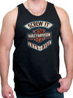 Harley-Davidson Mens Distressed Lets Ride B&S Black Sleeveless Tank Top Shirt image