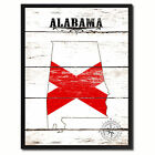 Alabama State Flag Canvas Print with Picture Frame Home Decor Wall Art Gifts