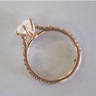 Women Rose Gold Filled Fashion Wedding Rings Round Cut White Sapphire Size 6-10 image