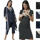 Happy Mama Women's Maternity Nursing Nightwear Pyjama Set/Robe/Nightshirt 237p