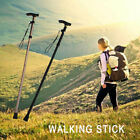 Folding Walking Stick in Coffee or Black Gel T Grip Handle Height Adjustable UK