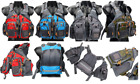 Multi-pocket Fly Fishing Backpack Chest Mesh Bag Adjustable Blue Red Grey Green