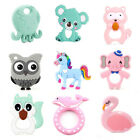Animal Teether Food Grade Silicone Baby Teething Chew Pacifier Clip Pendant Toys