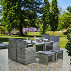 Lite 8 Seater 9 Piece Rattan Cube Dining Table Garden Furniture Patio Set
