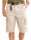 Mens Lazer Belted Cargo Shorts Stone Ripstop Stacked Twill Cotton Size 30 to 40