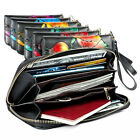 1PC Womens Leather Long Purses Designed Floral Pattern Credit Card Holder Pocket