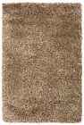 Beige/Gold Shaggy Hand-Woven Rug CLEARANCE STOCK up to 70% off Retail Price