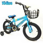 KIDISA&trade; BOYS CHILDREN&#039;S BLUE 14 INCH BIKE BICYCLE WITH REMOVABLE STABILISERS UK <br/> NEW 2019!! FEATURES!! FAST &amp; FREE!! 24HR SALE!!