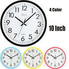 Retro Round Wall Clock Quartz Silent Sweep Movement Home Bedroom Kitchen Clocks