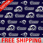 "Los Angeles Rams NFL Cotton Fabric - 60"" Wide - Style# 14760 - Free Shipping!! $10.95 USD on eBay"