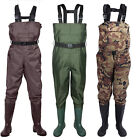 Kyпить 2-Ply Waterproof Chest Waders Fishing Hunting Nylon Rubber Bootfoot 8-14 size на еВаy.соm
