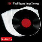 "10 100Pcs 10"" LP Vinyl Record Inner Sleeves Anti Static Round Bottom Album Cover"