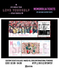 BTS Love Yourself: SPEAK YOURSELF Memorabilia Tickets (PRE-ORDER TIL 3/16)