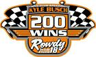 NEW FOR 2019 Kyle Busch 200 Wins Racing Sticker Decal - SM thru XL - var colors
