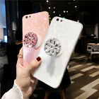 Bling Diamond Airbag Stand Holder Phone Case Cover Fr iPhone XS Max XR XS 7 8+