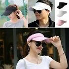 Men Women Visor Sun Hat Sport Outdoor Adjustable Tennis Golf Summer Hiking Cap B