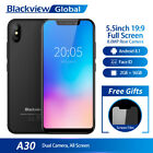 """5.5""""inch Blackview A30 Smartphone 2g+16gb Android 8.1 Dual Sim Face Id 3g Phone"""