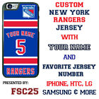 New York Rangers Personalized Hockey Jersey Phone Case Cover for iPhone etc. $19.98 USD on eBay