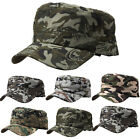 Mens Womens Camouflage Baseball Cap Army Military Fitted Flat Outdoor Summer Hat