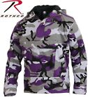 Ultra Violet Purple Anorak Parka 1/4 Zip Pull Over Jacket W/Hood 3647 Rothco