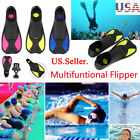 Adult Kids Diving Swimming Short Snorkeling Fins Swim Flippers Foot Shoes rzXP
