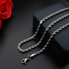 Hot man women 316L Stainless Steel 2mm/3mm/4mm/5mm Silver Rope Chain Necklace