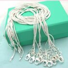 "lot Stunning 925 Sterling Silver Snake Chain Necklace 1mm 18"" 20"" 22"" 24"" image"
