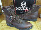 """Double-H Men's 8"""" Lacer Walnut Leather Work Boots Made in USA"""