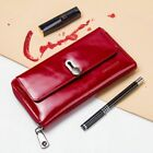 Long Polyester Clutch Wallets Fashionable Genuine Leather Solid Polyester Purses image
