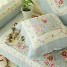 Floral Cotton Patchwork Quilted Throw Pillow Cushion Cover Shabby Chic Country